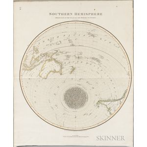 World, Northern and Southern Hemispheres. George Buchanan (fl. circa 1815) Northern [and] Southern Hemisphere Projected on the Plane of