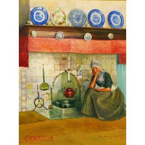 Marcia Oakes Woodbury (American, 1865-1913)    CINDERELLA
