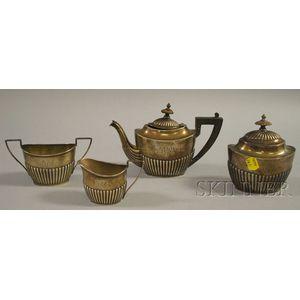 Four-Piece Gorham Tete-a-Tete Tea Set