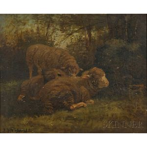 Nellie Pairpoint (American, ac. 1897-1914)      Sheep Resting