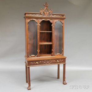George III-style Mahogany Cabinet on Stand