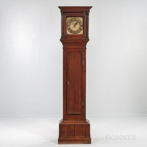 Early English Thirty-hour Brass-dial Longcase Clock