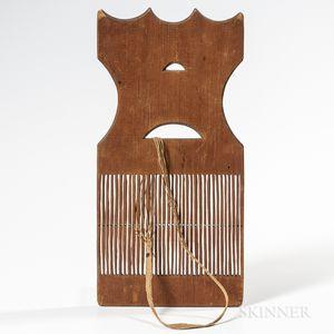 Carved Pine Tape Loom