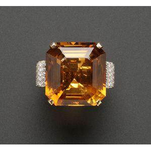 Citrine and Diamond Ring, Cartier