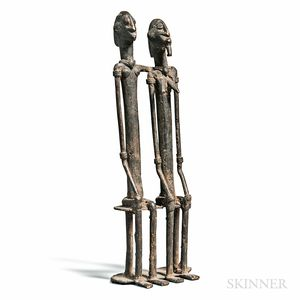 Dogon-style Bronze Primordial Couple