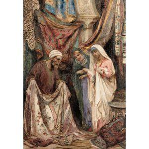 Fabio Fabbi (Italian, 1861-1946)      At the Textile Market