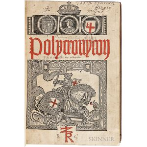 Higden, Ranulphus (d. 1364) Polycronicon.   Translated by John Trevisa, with the 1357-1460 Continuation   by William Caxton.