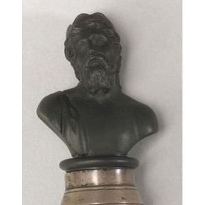 Wedgwood Black Basalt Miniature Bust of Zeus