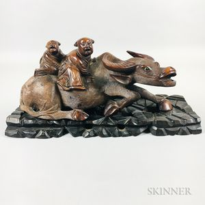 Carved Wood Water Buffalo