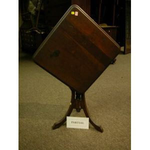 Victorian Walnut Oval Occasional Table and Tilt-top Stand.