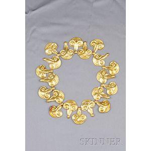 22kt Gold Collar, Ilias LaLaounis