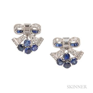 Sapphire and Diamond Earrings, Tiffany & Co.