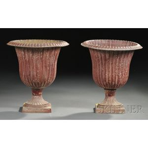 Pair of Tole Urns