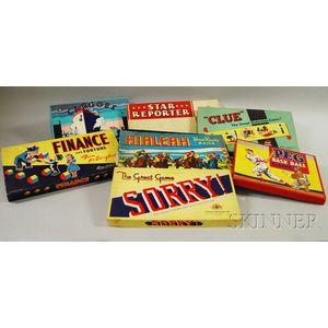 Seven Vintage Board Games