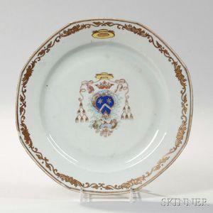 Armorial Export Porcelain Plate