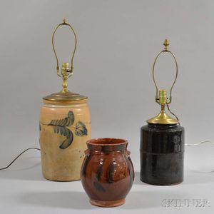 Three Pottery Vessels