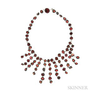 Talosel Resin and Mirror Fragments Necklace, Line Vautrin