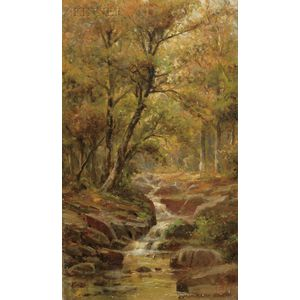 Jonathan Bradley Morse (American, 1834-1898)      Woodland Stream