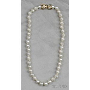 Cultured Pearl Necklace, Mikimoto
