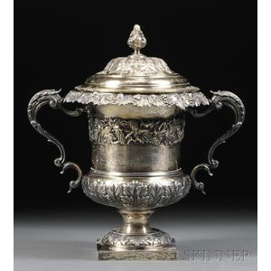 Neoclassical George IV Gold-washed Silver Covered Urn