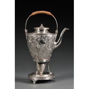 English Silver Kettle on Stand