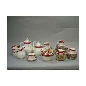 Seventy-two Piece French Porcelain Partial Dessert Service.