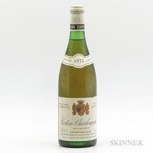 Louis Violland Corton Charlemagne 1975, 1 bottle