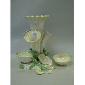 Belleek Porcelain Shell-form Epergne