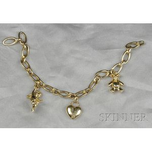 18kt Gold Charm Bracelet, Tiffany & Co.