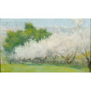 Ellen Day Hale  (American, 1855-1940)      Almond Blossoms