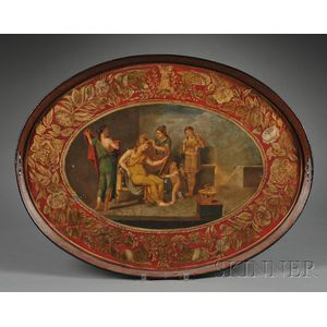 Painted Tole Tea Tray