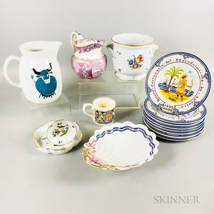 Fifteen Ceramic Tableware Items