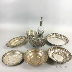 Eight Pieces of Sterling Silver Tableware