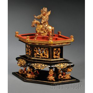 Gilt and Lacquered Wood Display Stand