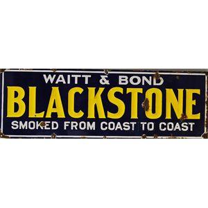Enameled Blackstone Cigar Sign