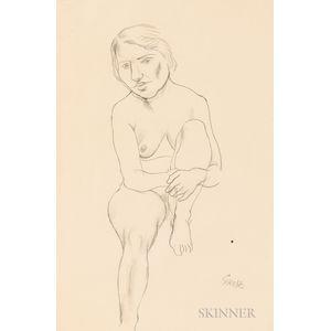 Attributed to George Grosz (German/American, 1893-1959)      Female Nude