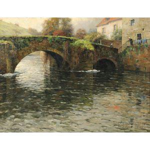 Louis Aston Knight (American, 1873-1948)      Old Bridge at Quimperle