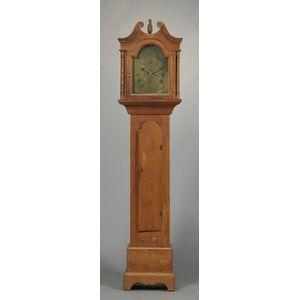 Carved Cedar Tall Case Clock