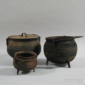 Three Cast Iron Pots