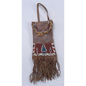 Southern Plains Beaded Leather Mirror Bag