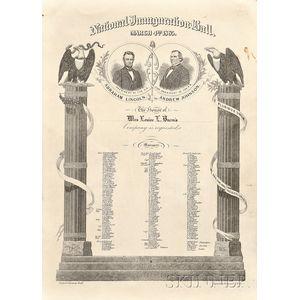 (Lincoln and Johnson Second Inauguration Invitation)