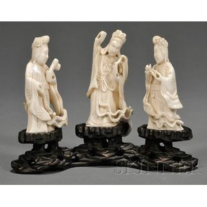 Group of Three Ivory Carvings