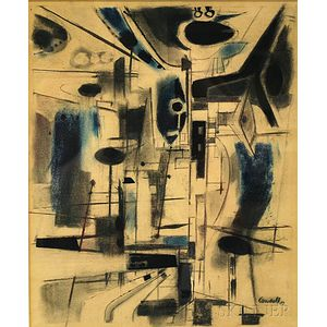 Victor Candell (American, 1903-1977)      Abstract Composition.