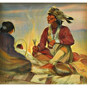 Grace Gay Betts (American, 1883-1978)      Seated Indians