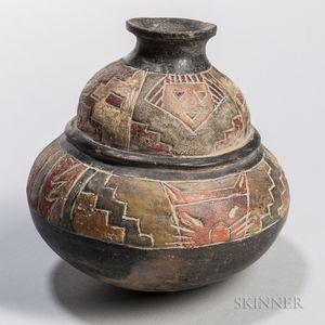 Paracas Painted Pottery Vessel