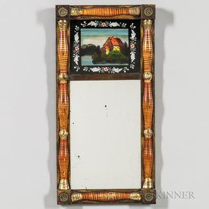 Grain-painted Split-baluster Mirror