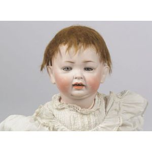 Large Louis Wolfe & Co. Bisque Head Character Baby