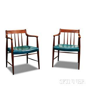 Pair of Scandinavian Design Teak Armchairs