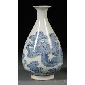 Blue and White Wine Jar