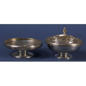 Two Sterling Footed Bowls
